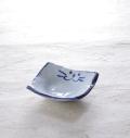 食器 のらや 猫 美濃焼 磁器 ブルー 青 ペア